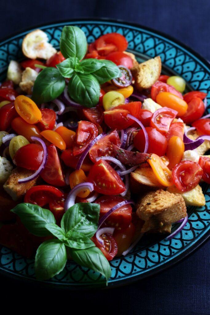 Tuscan Summer Bread Salad or Panzanella Salad