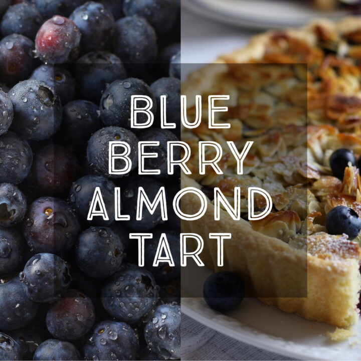Blueberry and Almond Tart