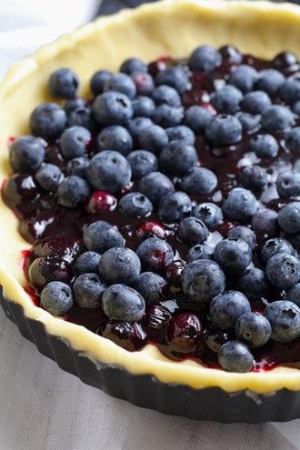 blueberry-Blueberries for Blueberry Almond Tartand-almond-shortbread-tart-