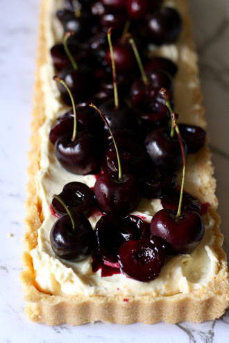 Cherry Honey Mascarpone Tart