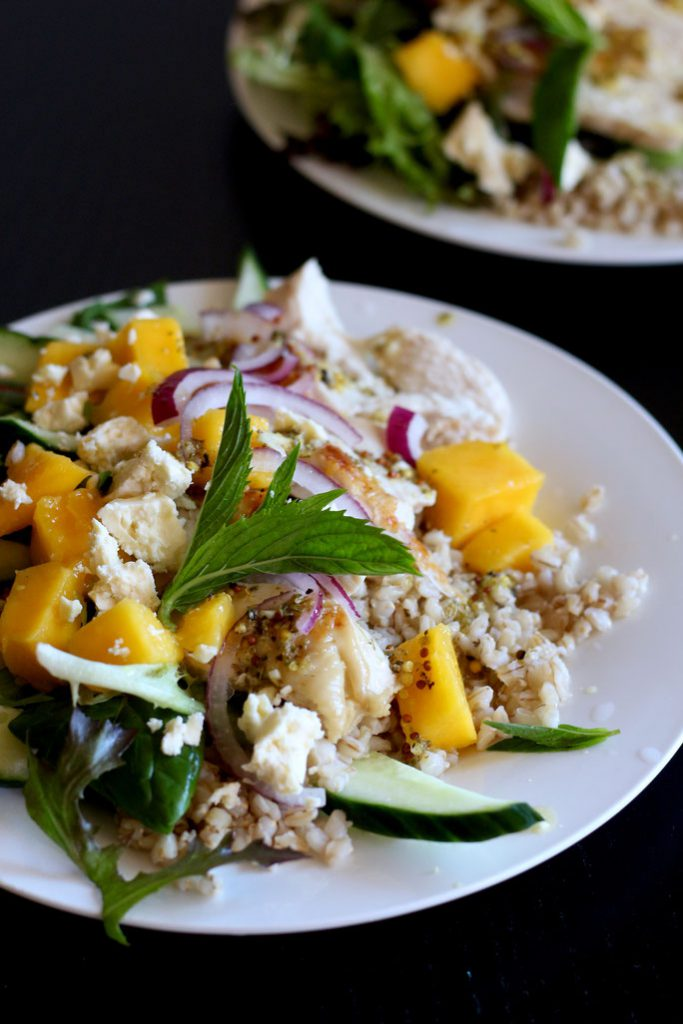 Chicken Mango Barley Salad