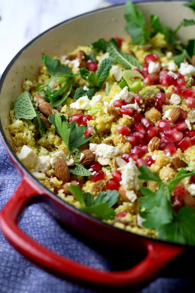Herby Cauliflower Cous cous