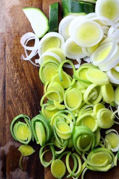 Vegetables for Spring Soup Minestrone Primavera