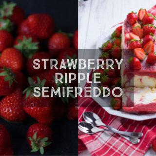 Strawberry Ripple Semifreddo