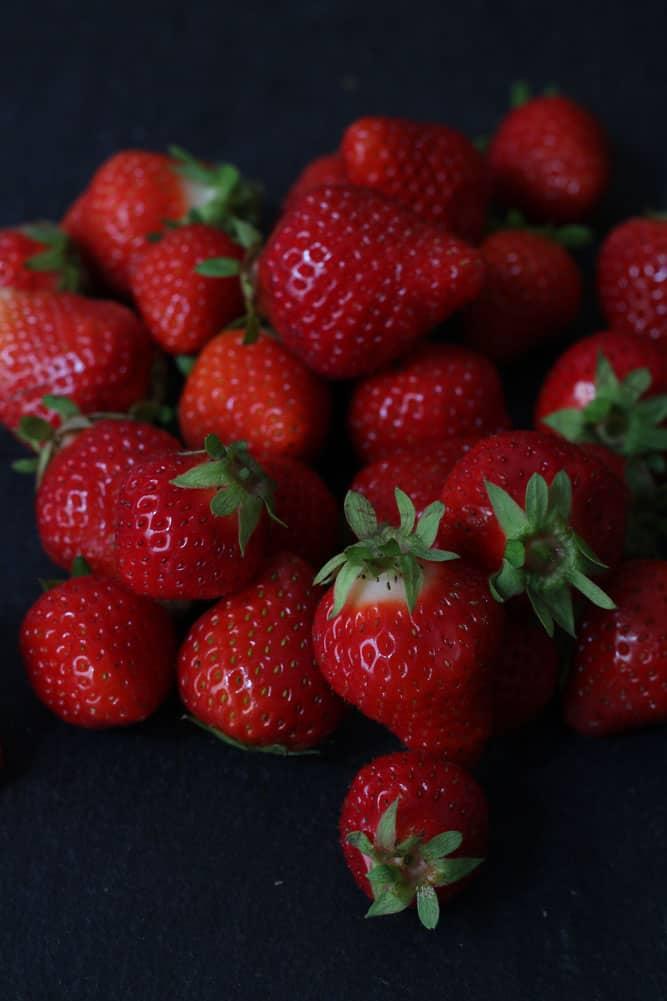Strawberries for Strawberries for Strawberry Ripple Semifreddo