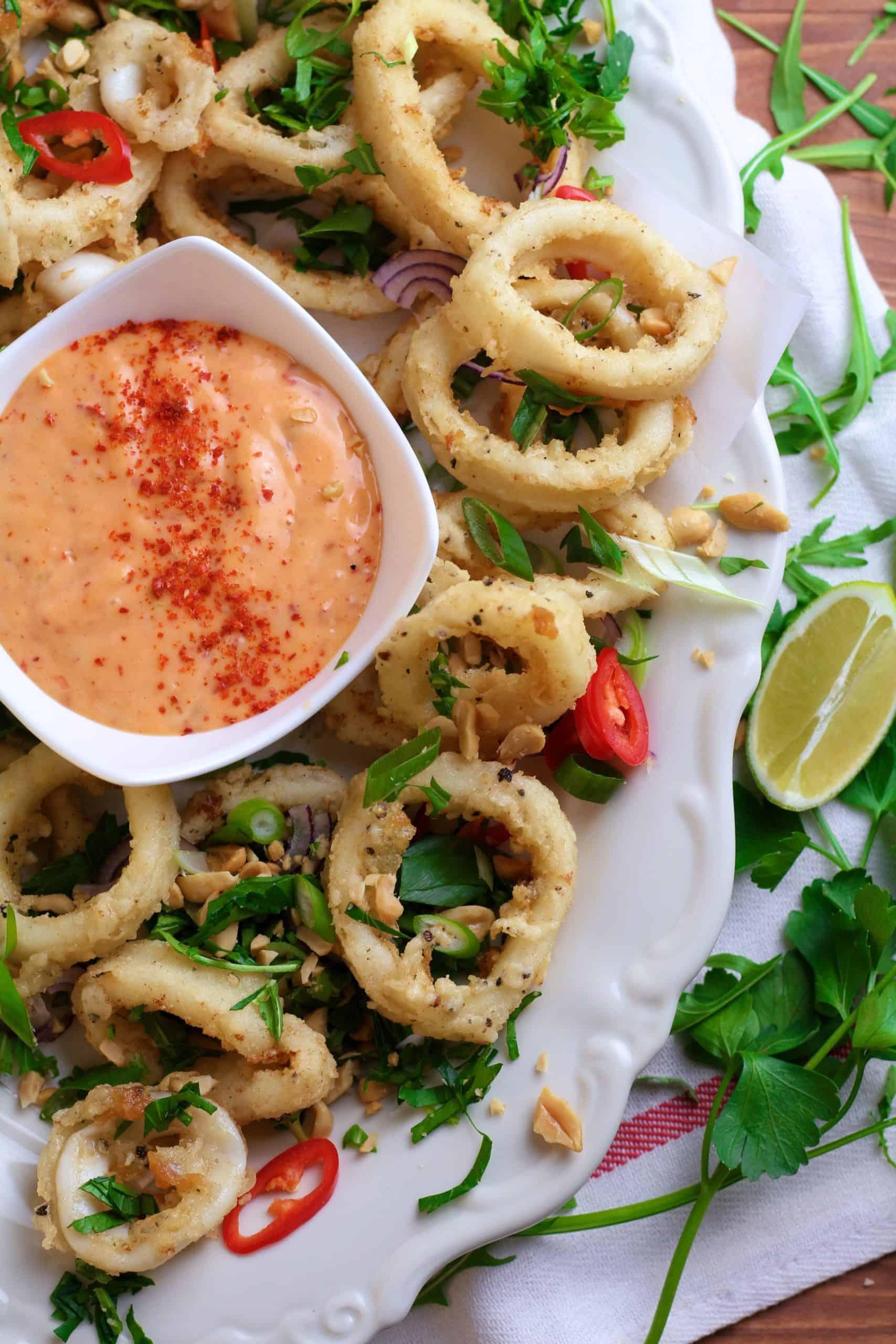 Spicy Herby Calamari Rings