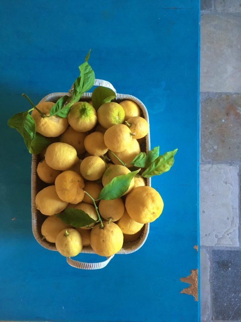 Lemons in Basket