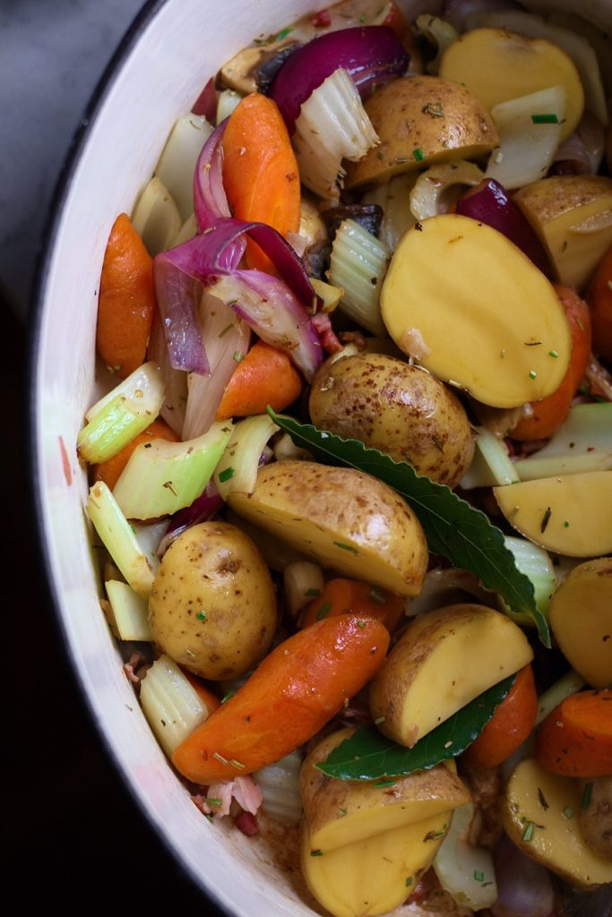 Vegetables for French Pot Roast Chicken