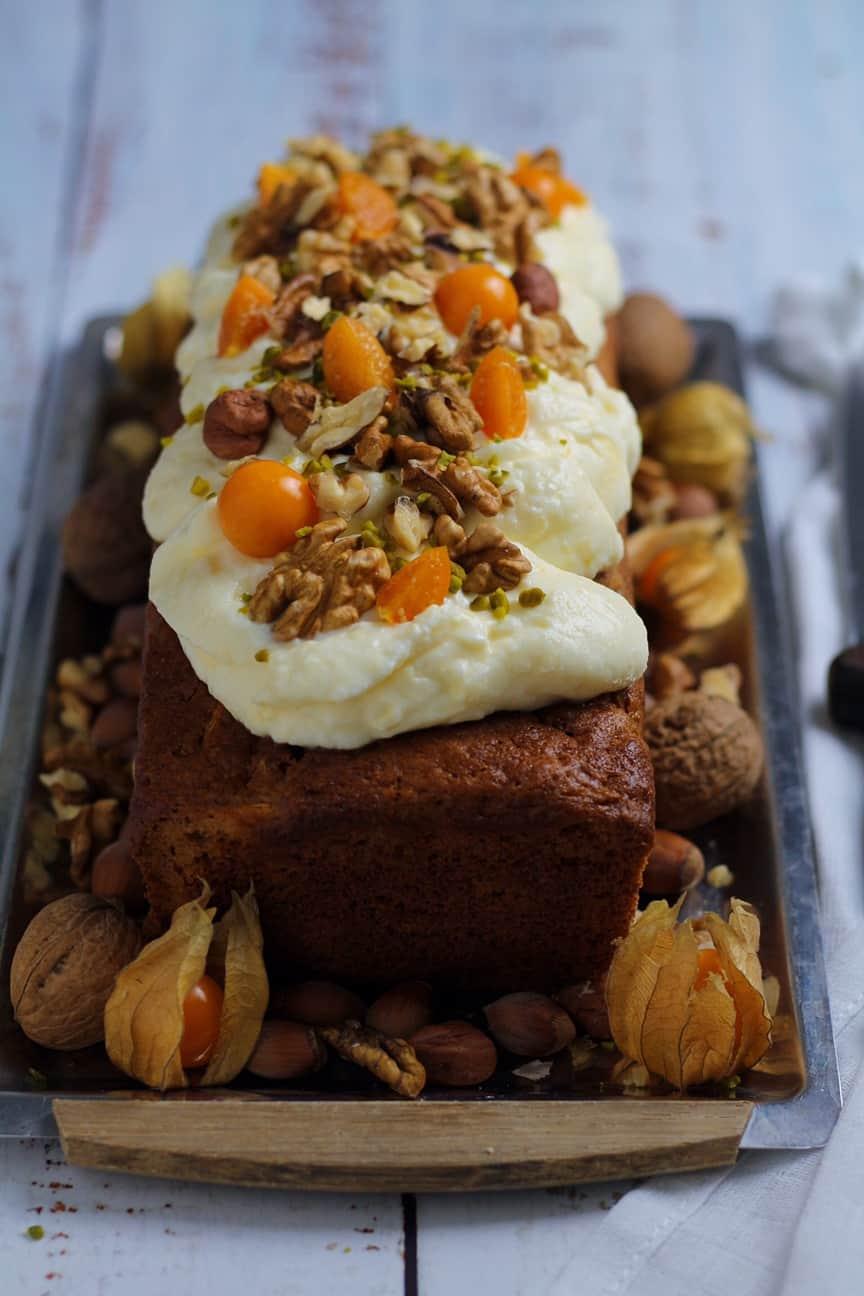 Spiced Carrot Loaf Cake