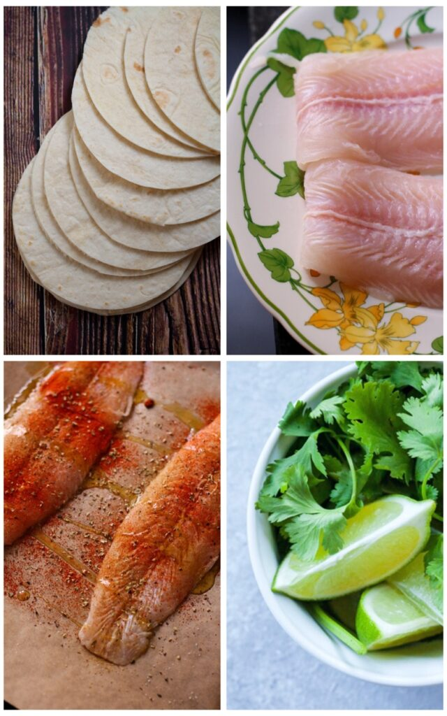 Chilli Lime Fish Tacos Ingredients