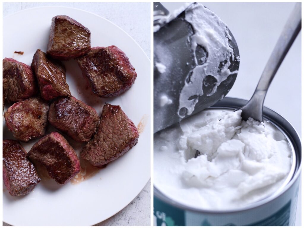 Beef and Coconut Milk