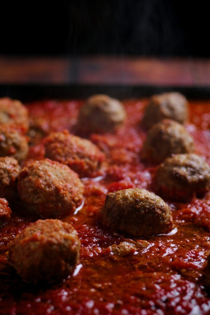 Baked Meatballs fresh from the oven