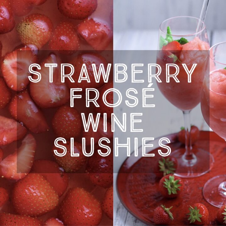 Strawberry Frosé Wine Slushies