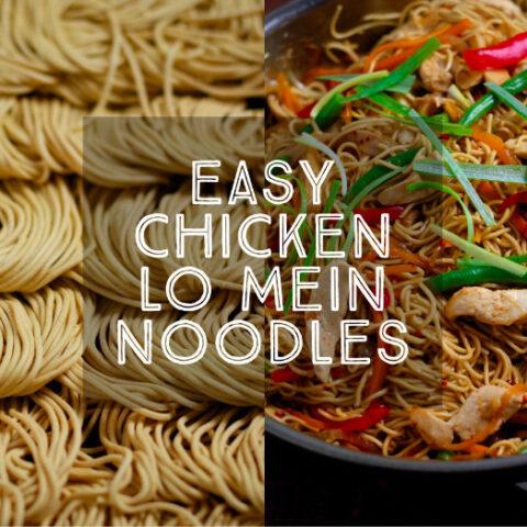 Easy Chicken Lo Mein Noodles 1