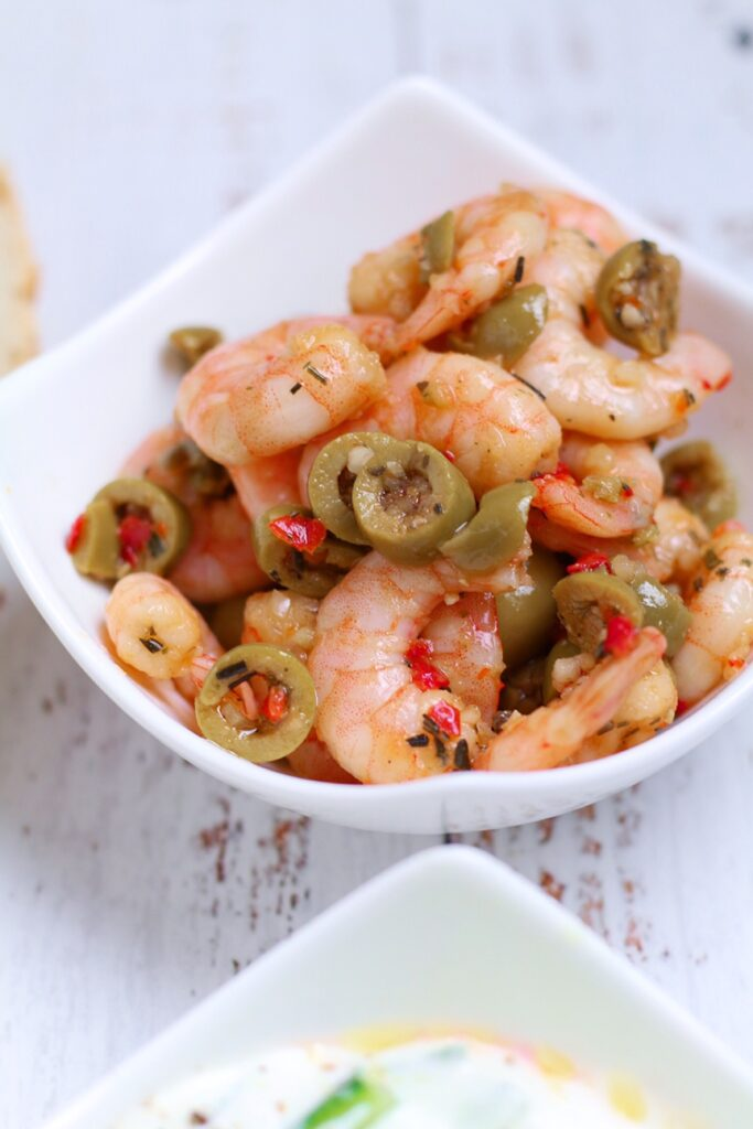 Prawn and Olive Meze
